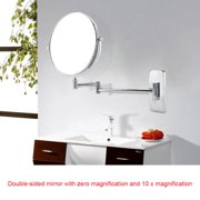 WALFRONT Wall Mount Double Sided Cosmetic Mirror Rotatable Bathroom Makeup Mirrors 10x Magnification, Wall Cosmetic Mirror, Makeup Mirror