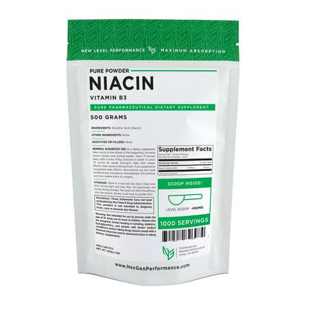 Niacin Powder 500g (1.1lbs) | Vitamin B3