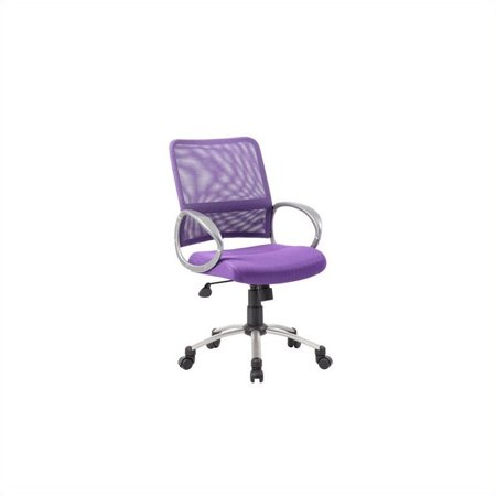 Kingfisher Lane Mesh Back with Pewter Task Office Chair in Purple