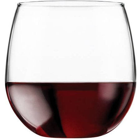 Oversized Wine Glass Centerpiece (Libbey 16.75-oz. Stemless Red Wine Glasses, Set of)