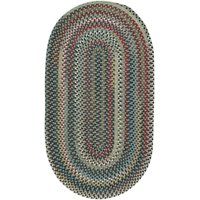 "Capel Bunker Hill Leaf Green 0195_250 Braided Rugs - 2' 3"" X 9' Runner"