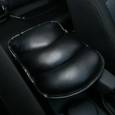 Auto Central Armrest Box Cover Cushion Car Handrails Pad Upholstery Decoration Universal Application Color:Black - image 6 de 8