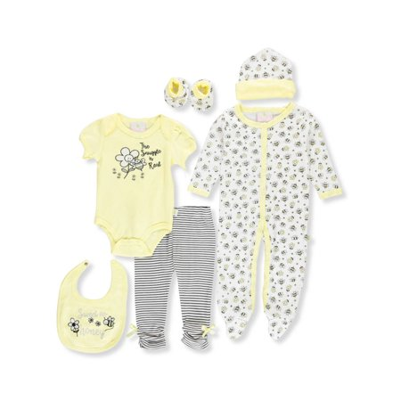 Duck Duck Goose Baby Girls' 7-Piece Layette Set](Duck Outfit)