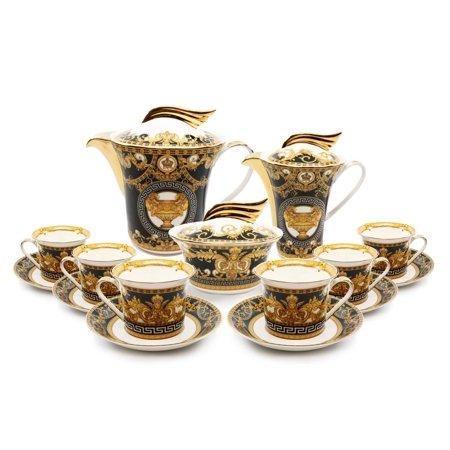 Royalty Porcelain 18-pc Tea Set, Tableware Service for 6, Bone China