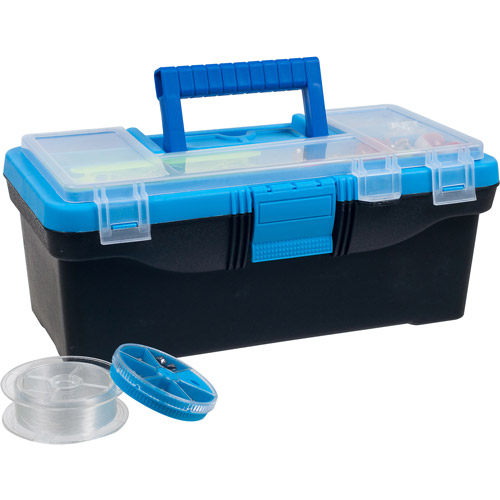 Gone Fishing 52-Piece Tackle Box with Lure and Accessories Set