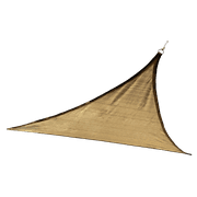Shade Sail Triangle - Heavyweight (Attachment point/pole not included) 16 x 16 ft. Sand