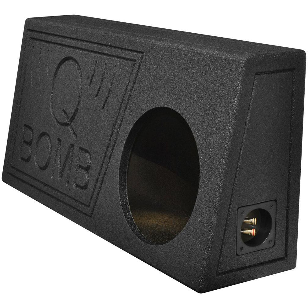"""Qpower Single 10"""" Truck Ported Spl Empty Woofer Box With Bed Liner Spray - image 1 de 1"""