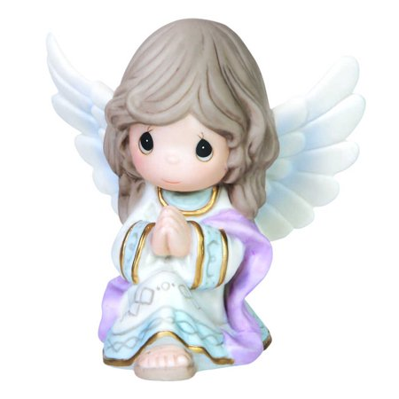 Precious Moments Porcelain Figurine (Precious Moments Praise to the New Born King Kneeling Angel Porcelain Figurine )