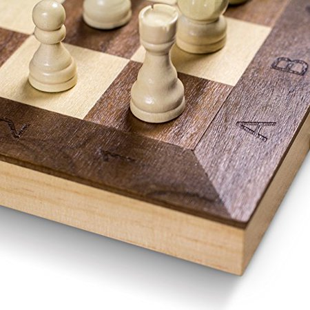 "GrowUpSmart Smart Tactics 16"" Folding Chess Set with Extra Queens Made by FSC Certified Wood - Standard Edition - image 4 of 4"