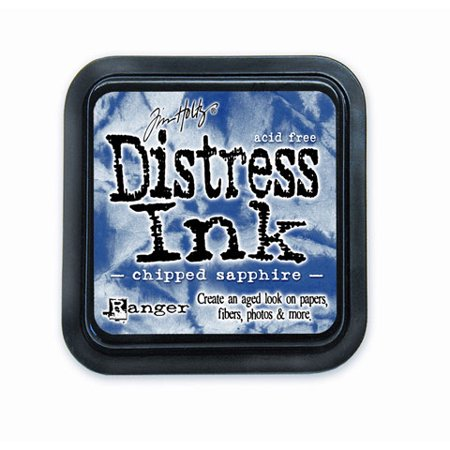 Tim Holtz Distress Ink Pad - Chipped Sapphire - 2 x 2 inches (Distress Ink Reinker Antique)