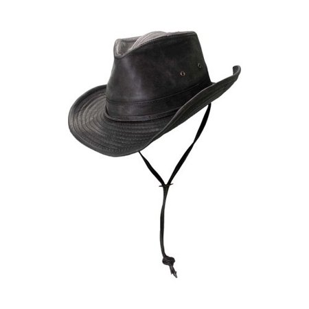Dorfman-Pacific Weathered Outback Hat With Chin Cord, -
