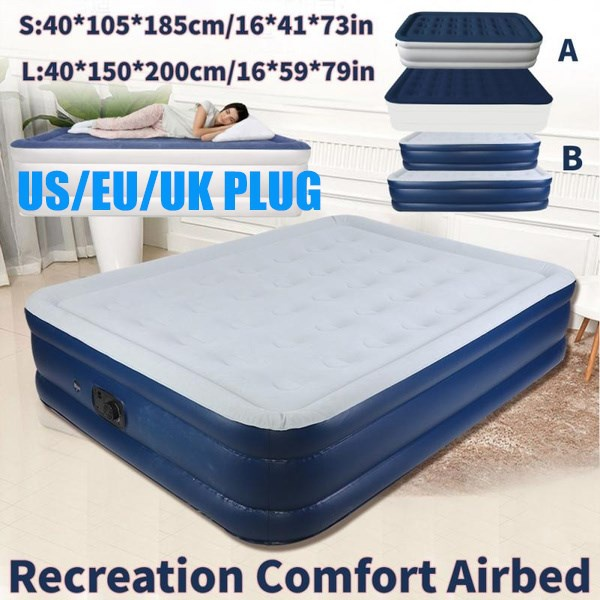 AVENTURA INFLATABLE SINGLE FLOCKED AIR BED CAMPING  AIRBED MATTRESS 188x73x13