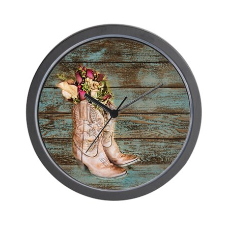 CafePress - Modern Cowboy Boots Barn Wood - Unique Decorative 10
