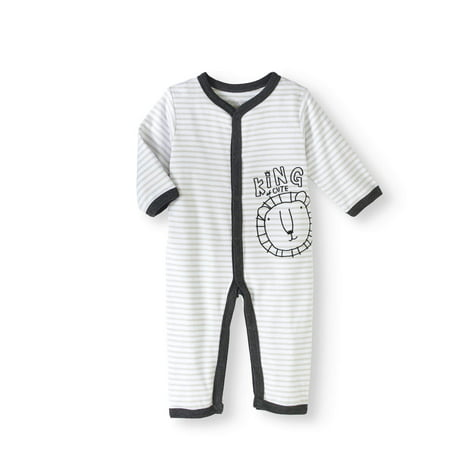 cc47e7edc Newborn Baby Boy Footless Coverall One Piece Romper - Walmart.com