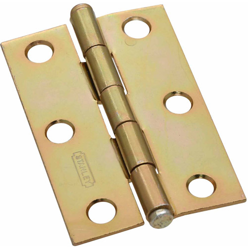 "Stanley Hardware 690170 2-Count 2.5"" Satin Brass Cabinet Hinges"