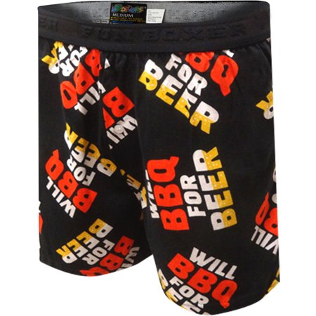 Will BBQ For Beer Black Boxers