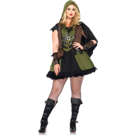 Leg Avenue Plus Size Darling Robin Hood Adult Halloween Costume
