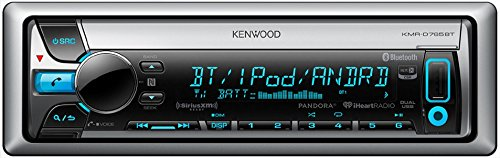 Click here to buy Kenwood KMR-D765 Marine Single-DIN In-Dash Marine CD Receiver with Bluetooth, Pandora Internet Radio and SiriusXM Ready by Kenwood.