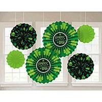 St. Patrick's Day Paper Fan Decorations