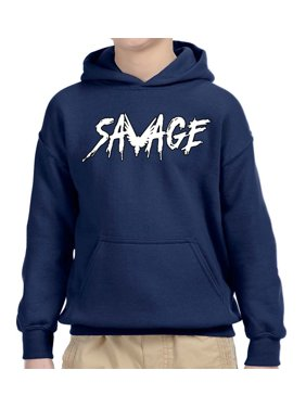 8741cfb76 Product Image New Way 788 - Youth Hoodie Savage Maverick Logang Logan Paul  Unisex Pullover Sweatshirt XS Navy