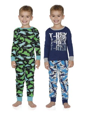 Prestigez Boys' 4 Piece Favorite Characters Cozy Cotton Pajama Sets, Dinosaurs, Size: 4