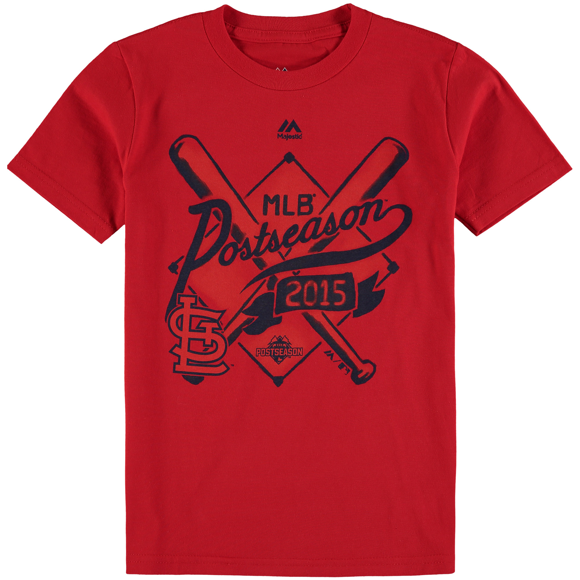 St. Louis Cardinals Majestic Youth 2015 Postseason Team Ambition T-Shirt - Red