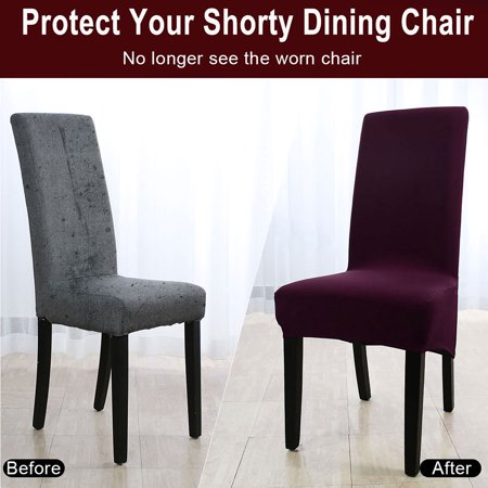 High Back Chair Slipcover Spandex Long, Dining Room Seat Covers Canada