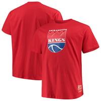 Sacramento Kings Mitchell & Ness Big & Tall Hardwood Classics Throwback Logo T-Shirt - Red
