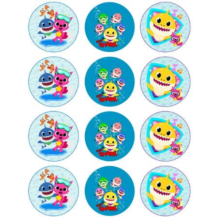 Baby Shark Edible Cupcake Toppers - 12 count - Walmart.com