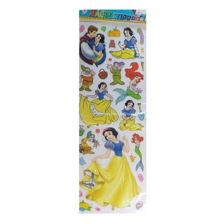 Reuseable Disney Princesses magic Stickers  Little Mermaid, Snowhite