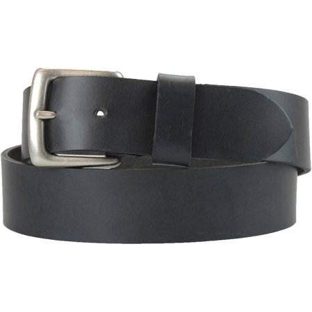 1-1/2 in. US Steer Hide Harness Leather Men's Belt w/ Antq. Nickel (Leather Harness Buckle Belt)