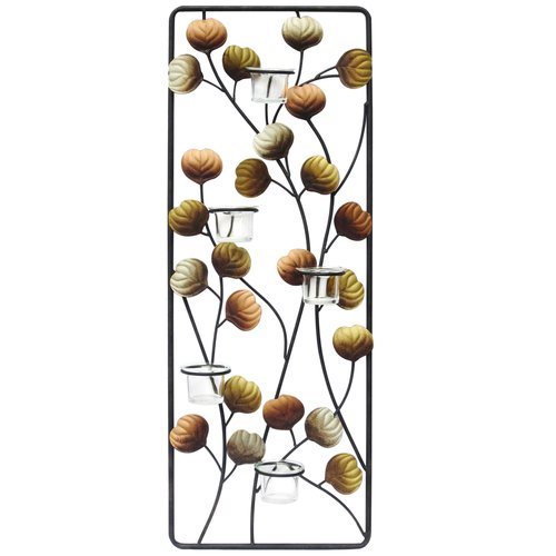 Beautiful Better Homes And Gardens Metal Clear Leaf Votive Wall Decor