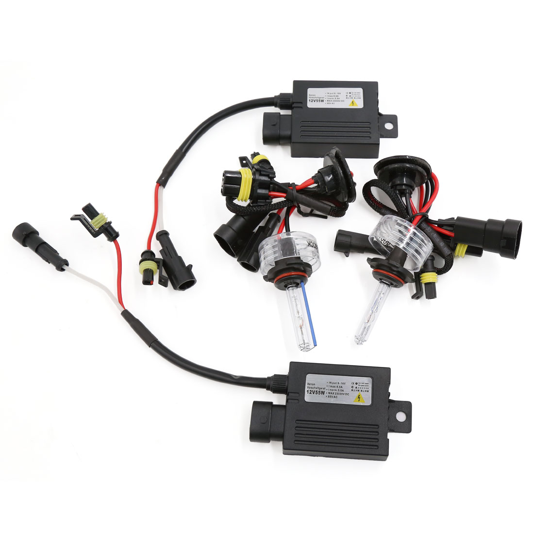 12V 55W 8000K 9006 HID Xenon Light Bulb Headlight Slim Ballast Conversion Kit