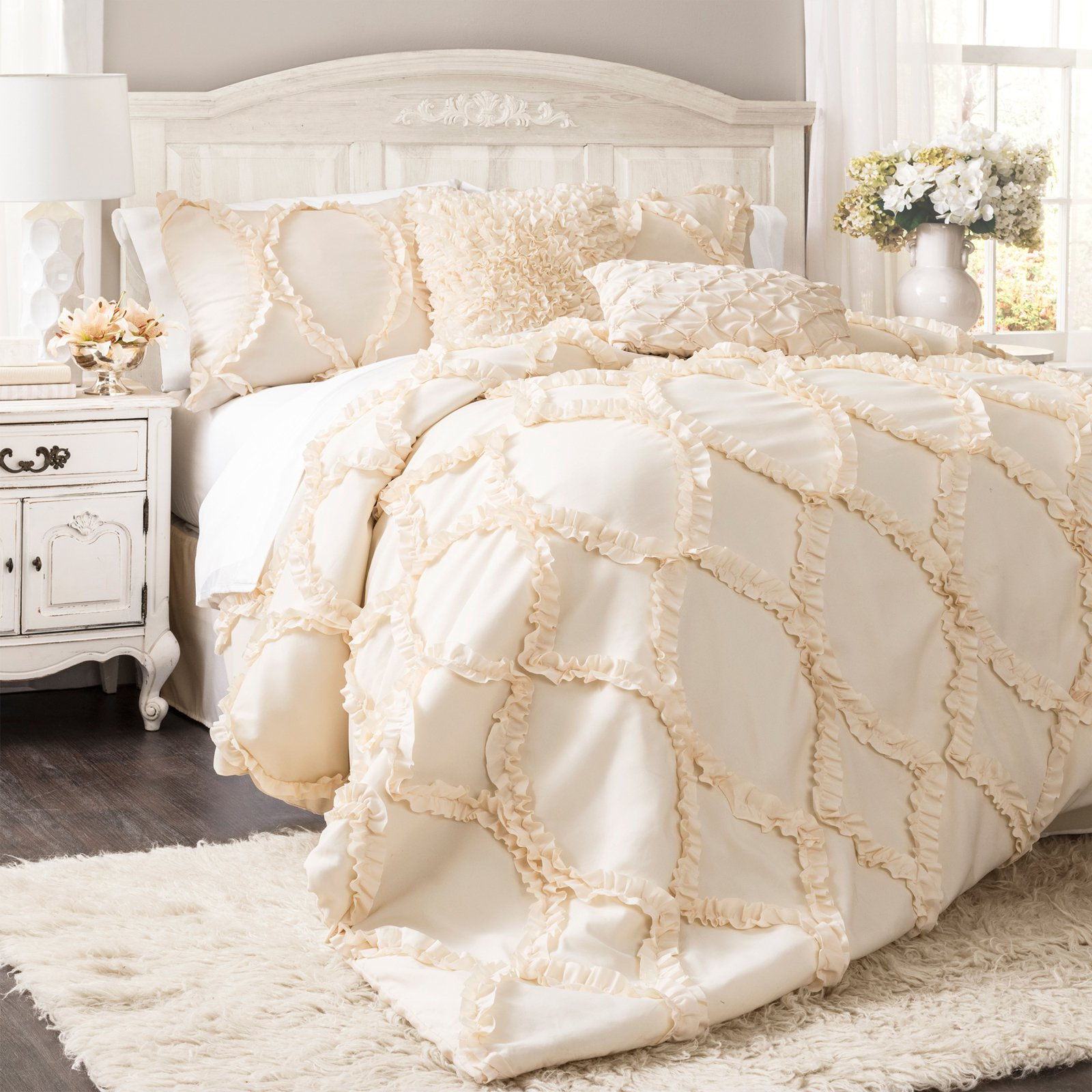 black geometric pc sets modern comforter bedding ivory set and