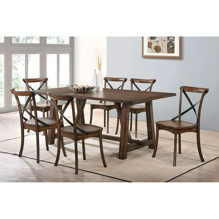 ACME Kaelyn Side Chair, Dark Oak & Black (Set of 2)