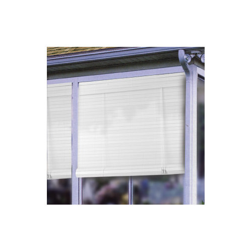 Radiance 1'' Plantation Roll-Up Blind in White