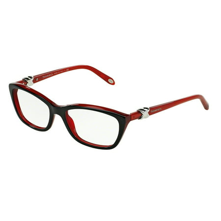 Tiffany Optical 0TF2074 Full Rim Cat Eye Womens Eyeglasses - Size 54 (Black/Red / Demo (German Eyeglass Brands)