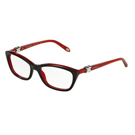 Tiffany Optical 0TF2074 Full Rim Cat Eye Womens Eyeglasses - Size 54 (Black/Red / Demo (Eyeglasses For Eyes)