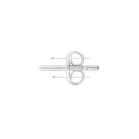 Unique Design Amethyst CZ Stud Earrings 14K White Gold - image 3 de 5