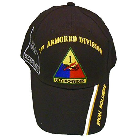 1st Armored Division Cap and BCAH Bumper Sticker, Old Ironsides Baseball Hat Army