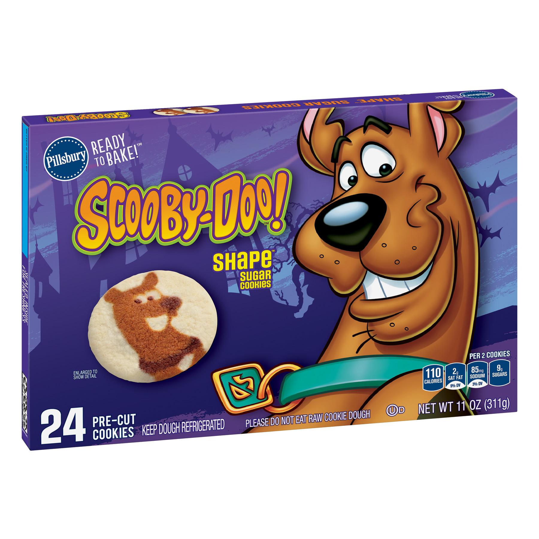 Pillsbury Ready to Bake! Scooby-Doo! Shape Sugar Cookie Dough, 11 Oz., 24 Count