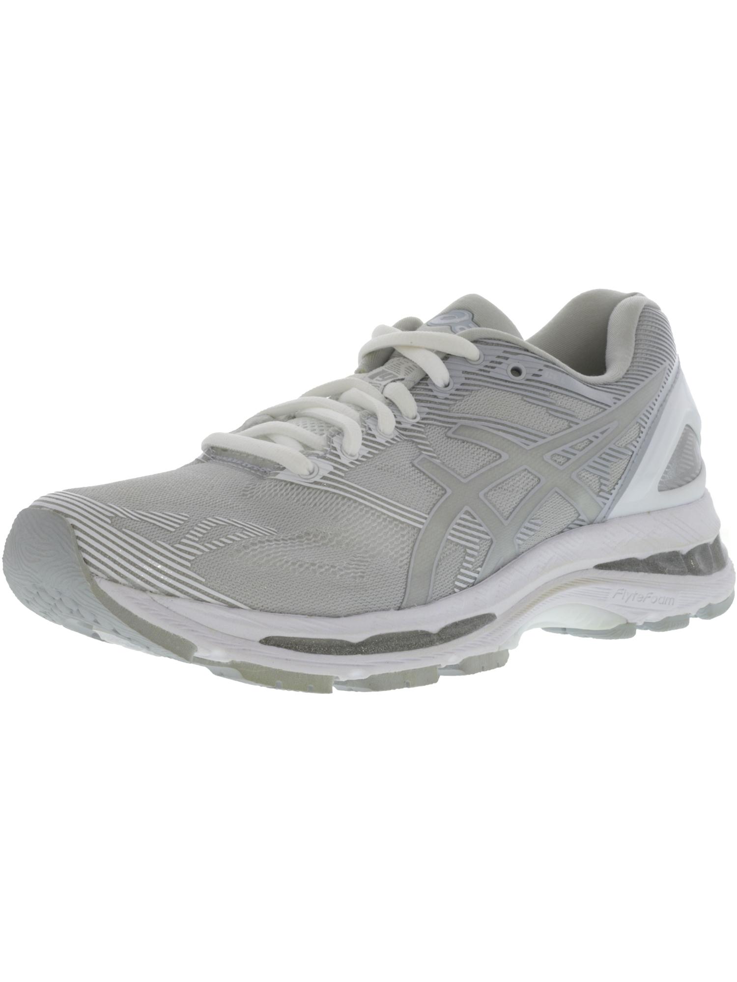 Asics Women's Gel-Nimbus 19 Indigo Blue / Paradise Green Pink Glow Ankle-High Running Shoe - 12M