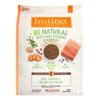 Instinct Be Natural Real Salmon & Brown Rice Recipe Natural Dry Dog Food by Nature's Variety, 24 lb
