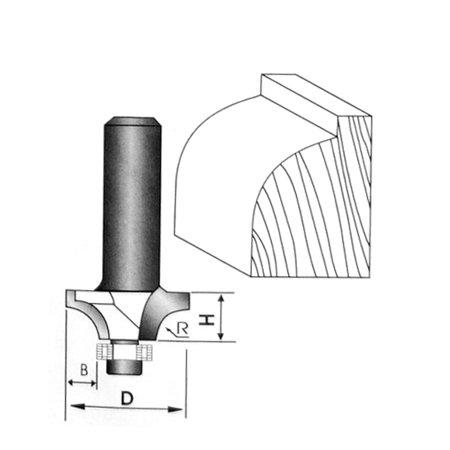 "1/2"" x 1-3/8"" Woodworker Straigth Shank Corner Rounding Round Over Router Bit - image 1 de 5"