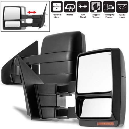 Fit 2007-2014 Ford F150 Pickup Extendable LED Turn Signal Power Towing Mirror 03 Ford F150 Pickup Mirror