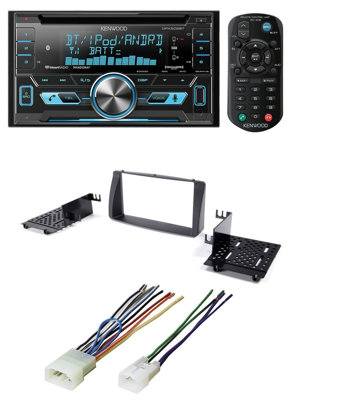 Usb Car Radio Wiring Harness Electrical Diagrams Kits 2003 2008 Corolla Double 2 Din Stereo Install Dash Kit W