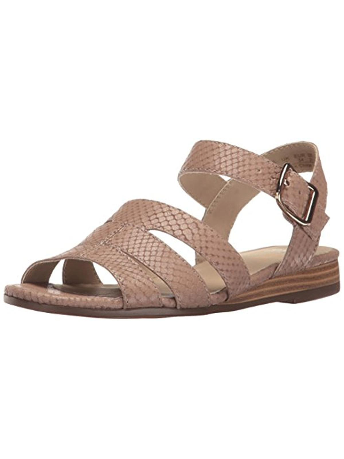 Naturalizer Womens Kaye Snake Print Open Toe Strappy Sandals by Naturalizer