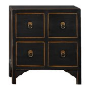 Antique Revival Wood 4-drawer End Table