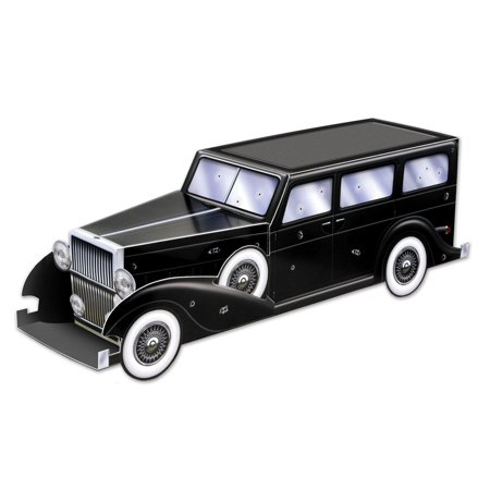 Party Central Club Pack of 12 Roaring 20's Themed 3-D Gangster Car Centerpiece Party Decorations 12