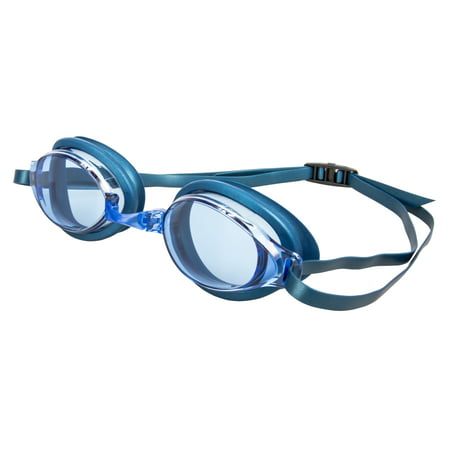 Adult Pacesetter 3 Pack Swim Goggle - Purple, Smoke & Blue - Airplane Goggles